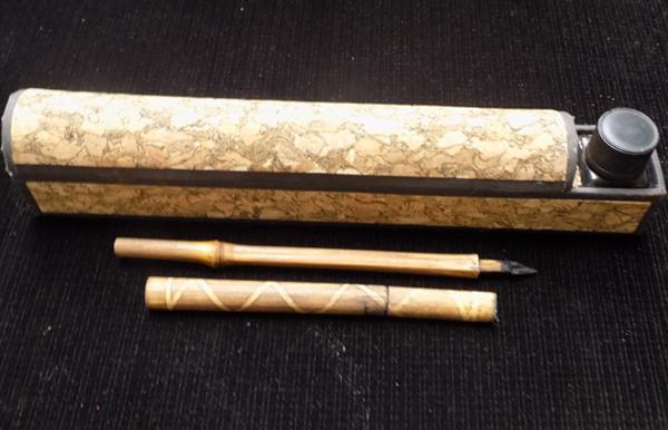Writing set with ink & bamboo pens