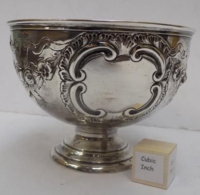 Solid silver rose bowl - Sheffield 1906 - Walker and Hall
