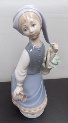Lladro girl with basket