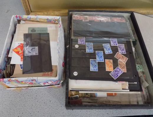2x Boxes containing interesting assortment of stamps