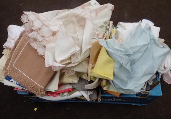 Large box of linen