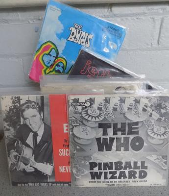 Collection of 1960's singles, incl The Who, Byrds, Beatles, Elvis, Jethro Tull, Monkkeys, Beach Boys