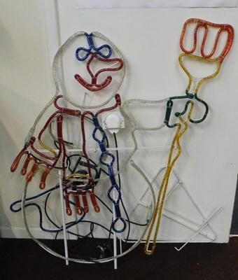 Wall hanging light up snowman - W/O