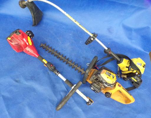 Hedge trimmer, strimmer & one other, sold as seen