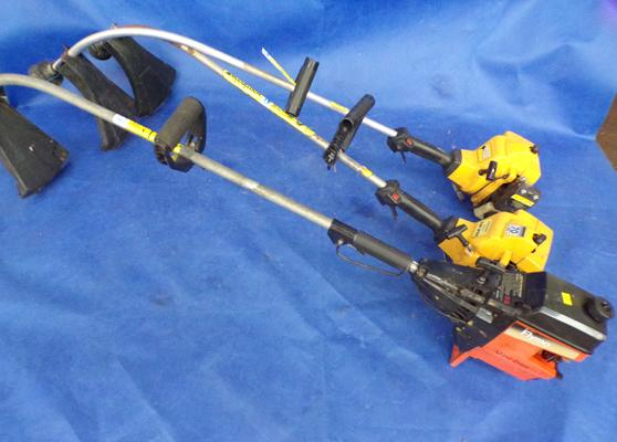 Three strimmers, sold as seen