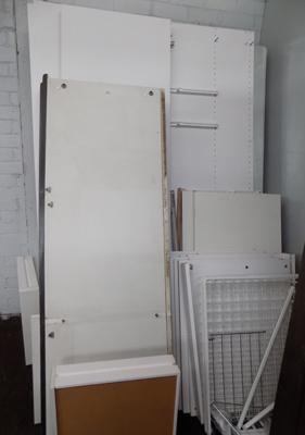 2 double wardrobes - complete (req. assembly)