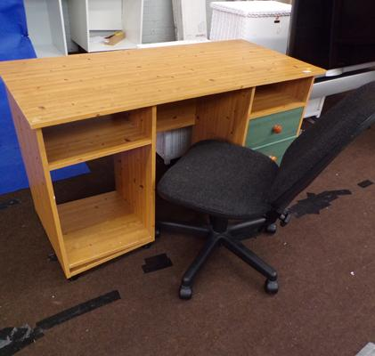 Desk and drawer set incl. office chair