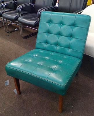 Vintage turquoise studded chair
