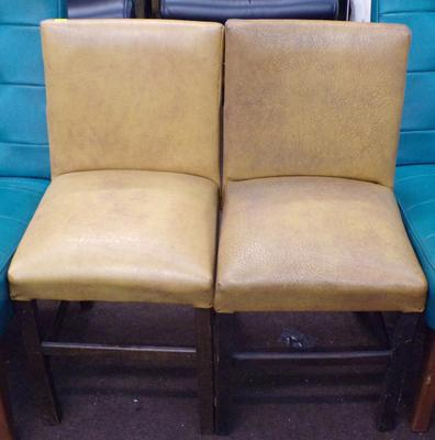 Two vintage leather children's chairs