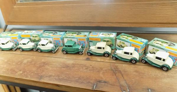 7 x Matchbox Model A Fords, boxed