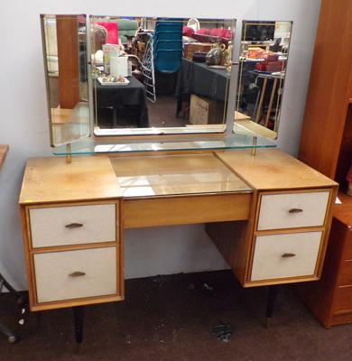 Retro 1950's mirrored dressing table