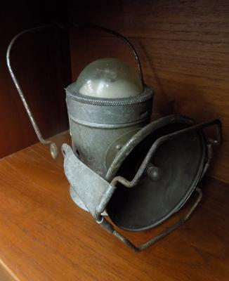 Vintage Eveready railway lamp for display