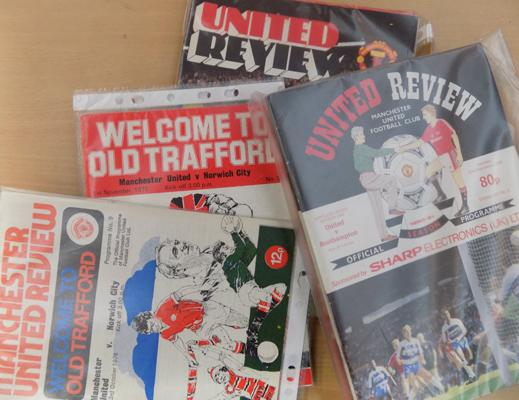 1970's to 1990's large selection of Man Utd football programmes