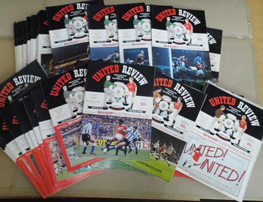 1980's and 1990 collectable Manchester United official programmes