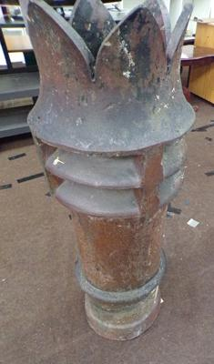 "Crown top chimney pot 42"" tall"