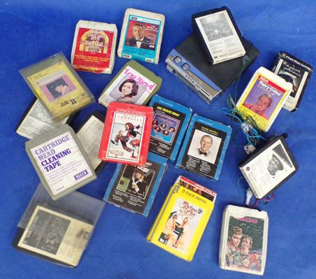 8 track cartridge player + selection of cartridges