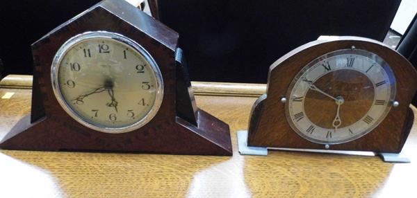 Two vintage clocks by Smith's