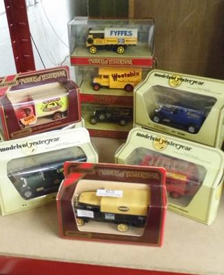 Selection of Yesteryear cars in boxes