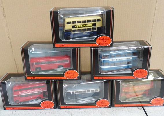 6x exclusive first edition buses - boxed