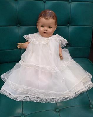 Antique 'Reliable' doll in gown