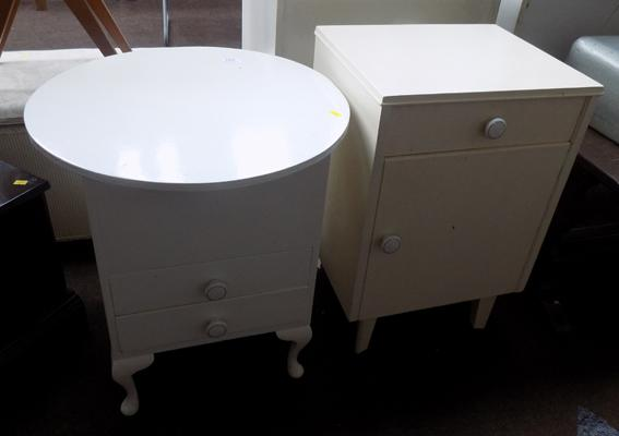 Painted bedside unit & bedroom drawers
