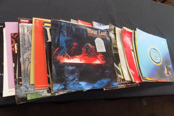 Large selection of LP's incl. Meat Loaf etc.