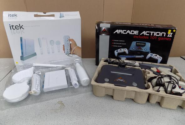 Itech wireless interactive games console and arcade action II