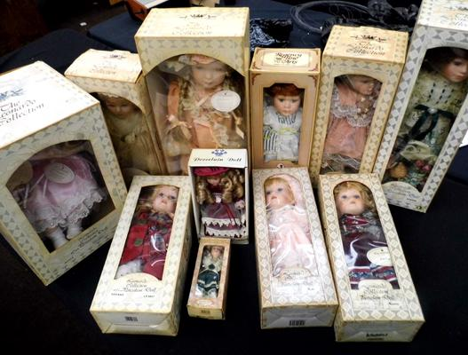 Selection of Leonardo collection dolls