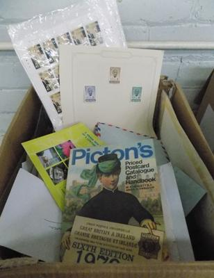 Large box of stamps inc envelopes etc