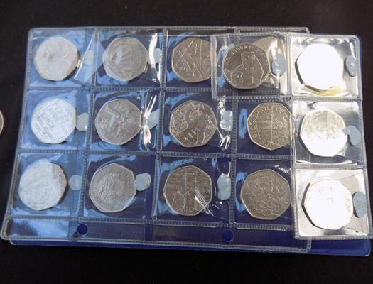 16 collectable coins, incl. Beatrix Potter 50p coins