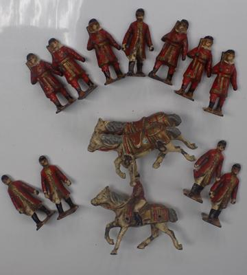 Selection of vintage lead figures