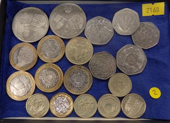 Collection of modern coins, £5 - 50p (over £30 fixed value)