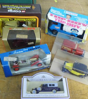 Selection of diecast, incl. Lone Star, Brum Topolino, Brum Cycle car