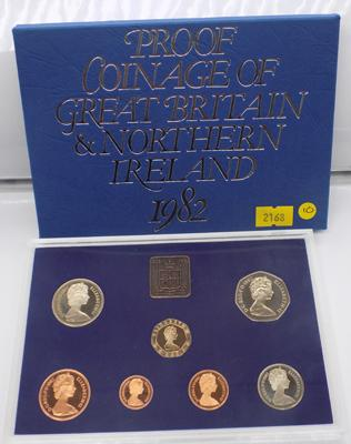 Royal Mint 1982 proof coin set