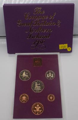 Royal Mint 1980 proof coin set
