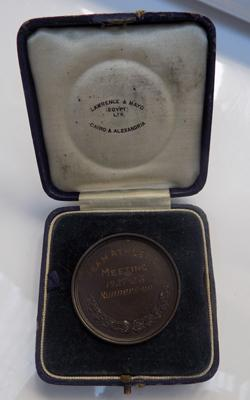 British Forces in Egypt medal by Lawrence & Mayo, Cairo, fitted box