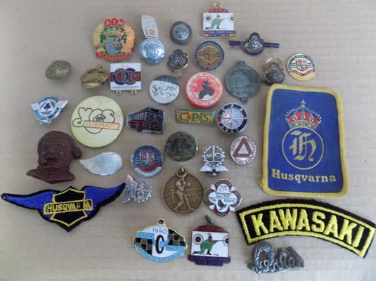 Selection of badges