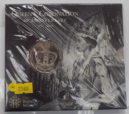Royal Mint 2013 £5 coin in unopened folder