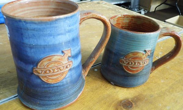 2 x His & Hers Volvo 'Wold' Youth Pottery, Yorkshire