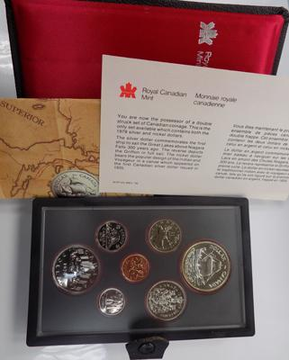 Canada 1979 proof set of coins, incl. silver dollar in deluxe case