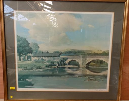 Print of 'The Red Lion' Burnsall by Harry A. Teale 1975