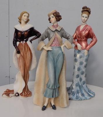 Three 'Regal collection' figurines approx. 10 x 12 inches tall