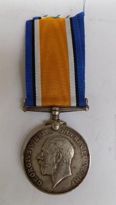 WWI 1914-1918 British War medal presented to Pte. E. Draper, R.A.M.G.