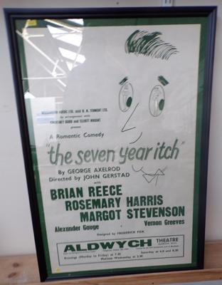 "Original 1950's theatre poster 'The seven year hitch' 31"" x 21"""