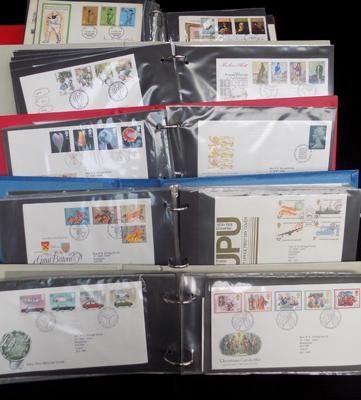 5 albums of first day covers