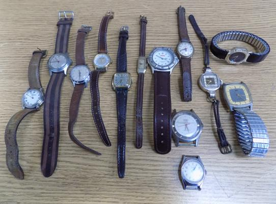 Collection of vintage watches, incl. Timex