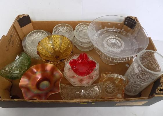 Large selection of cut glass, crystal and coloured glass incl Stuart Crystal