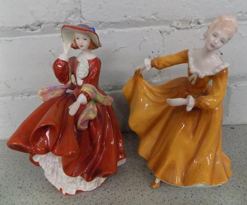2 x Royal Doulton figures - 'Top O' the Hill' & 'Kirsty'