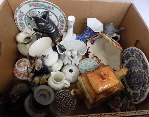 Large selection of pottery and ceramics incl. Masons, Wedgwood and Royal Worechester