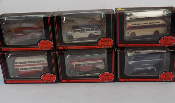 6 x First Edition buses, boxed